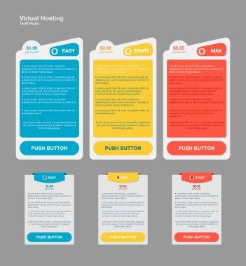 Set web tariffs banners