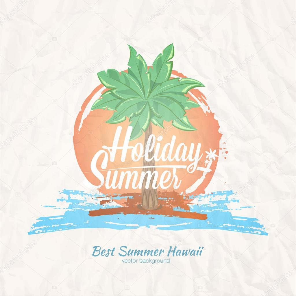Print for t-shirt and poster summer party