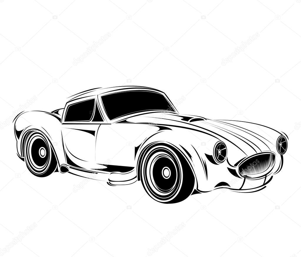 old school car — Stock Vector © andrei.dvaretski.yandex.ru #102917590