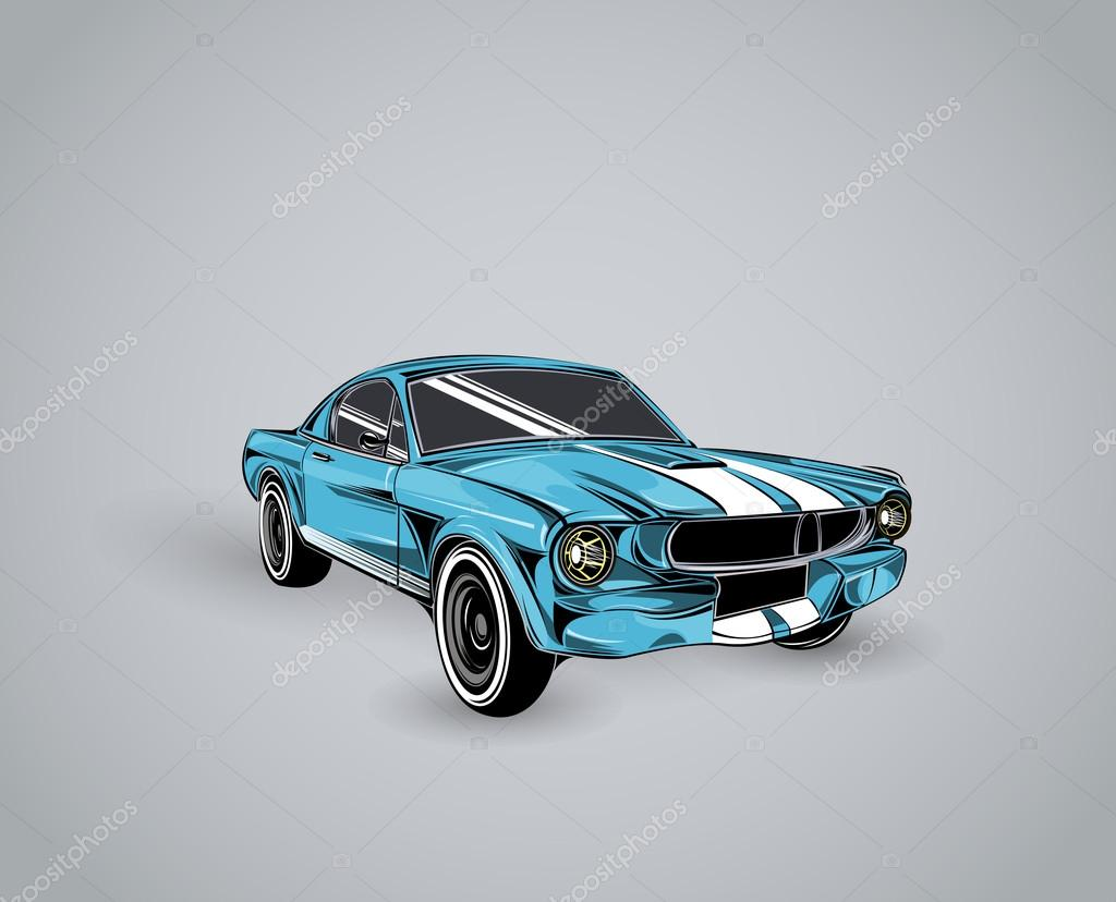colorful old school car stock vector 102917678