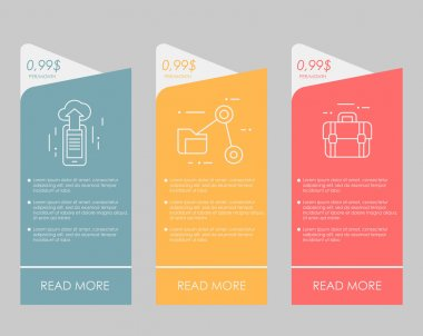 web boxes banners design