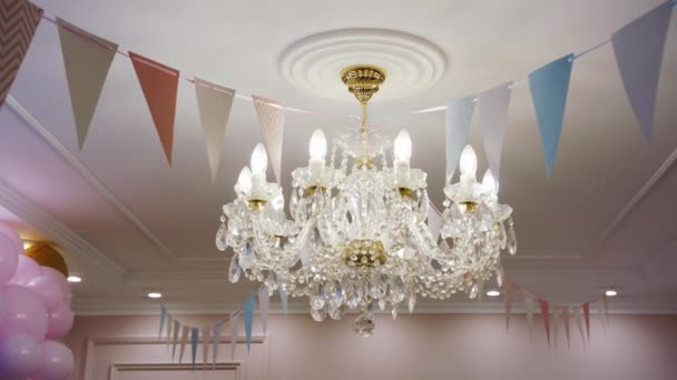 crystal chandelier in the palace