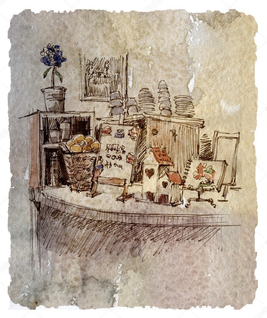 Café Design De Interiores, Desenho, Gráficos
