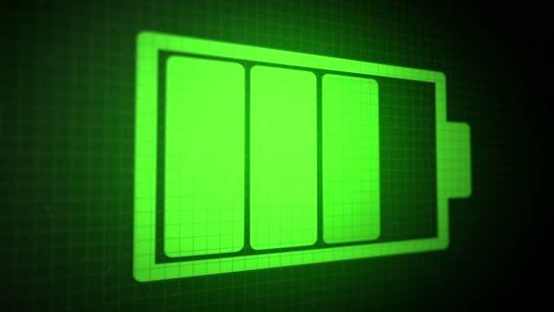 Sfondo Animato Con Ricarica Colore Verde Acido Di Icona Della