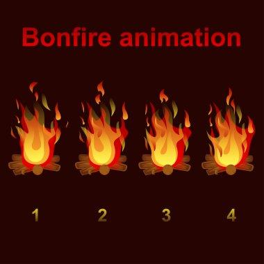 bonfire animation sprites, for game design