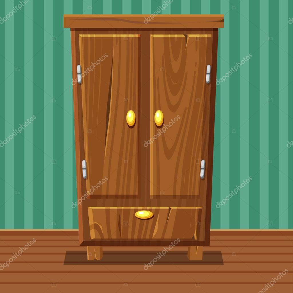 Cartoon funny closed wardrobe living room wooden - Living room wooden furniture photos ...