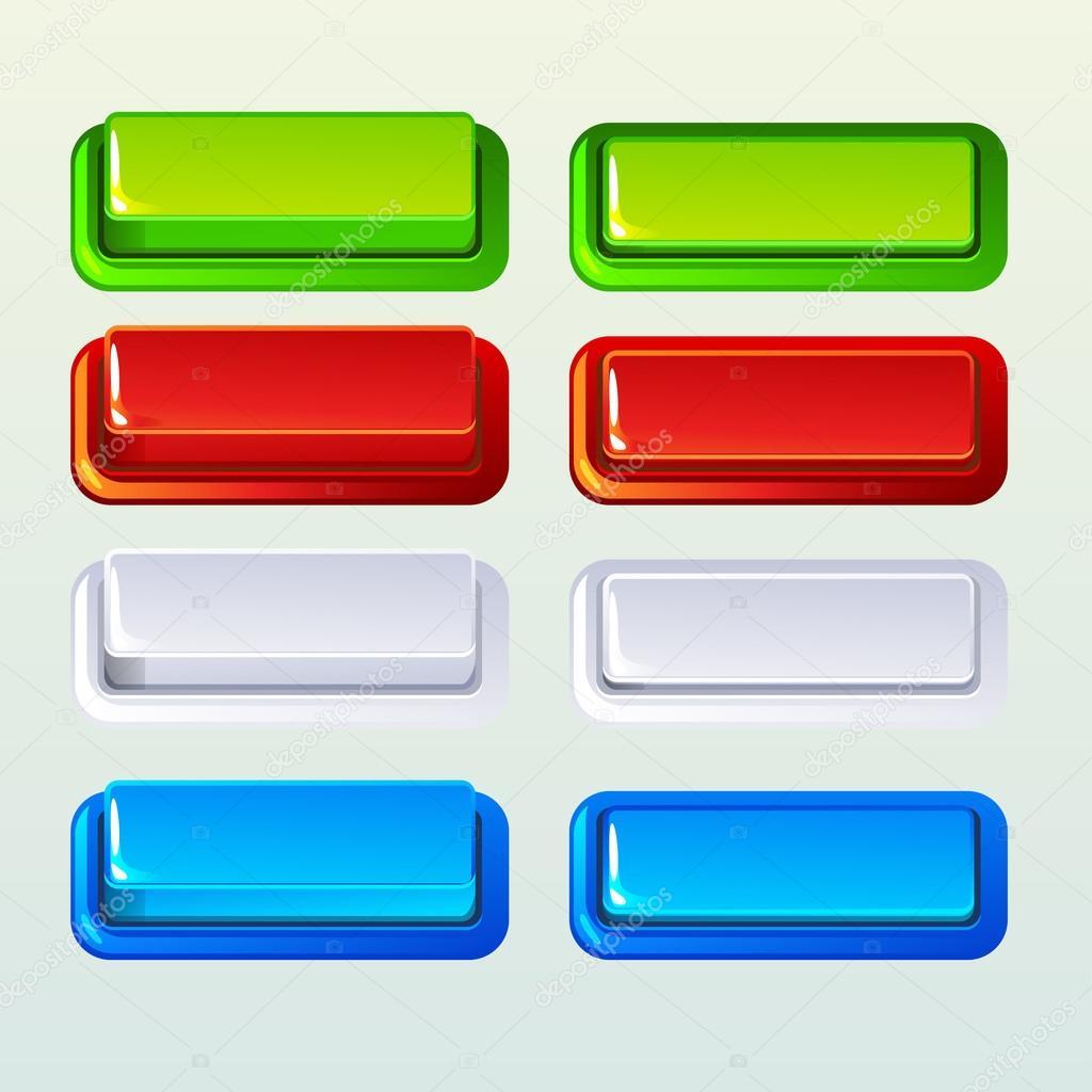 4f6e03fe964a0 Botones de colores para un juego o elemento de diseño Web