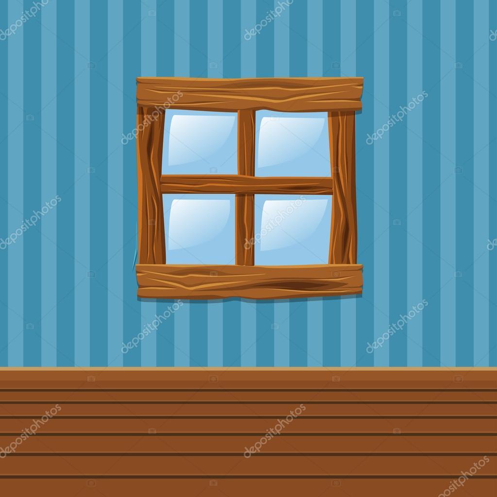 Souvent animé en bois vieille fenêtre, Accueil intérieur — Image  SF04