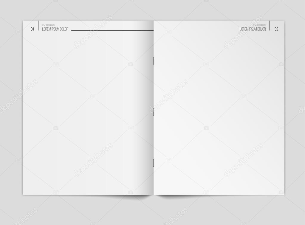 Blank Newspaper Template On Gray Background Vector By Pro