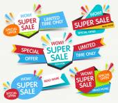 Photo Super sale banner. Sale and discounts. Vector illustration