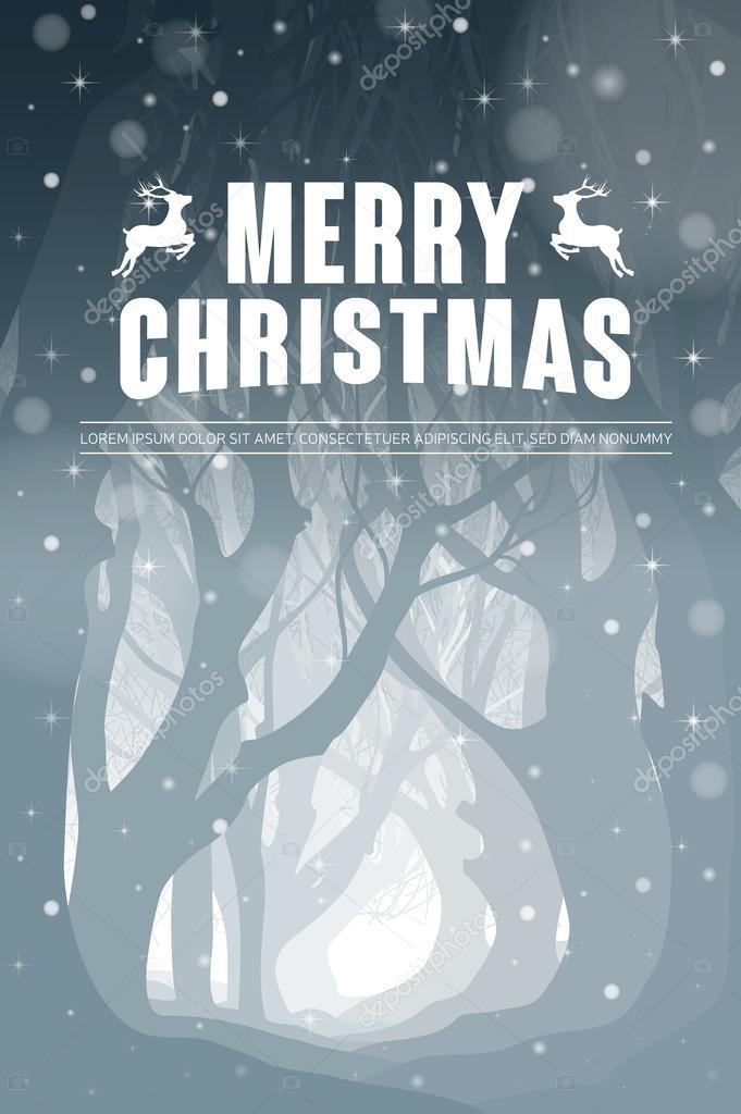 Christmas poster, wallpaper, background. Eps10 vector illustration.