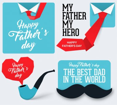 Happy Father's Day Collection. Greeting card for Father's Day. clip art vector