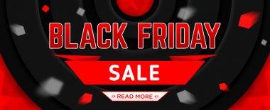 Black Friday sale design template. Black Friday web banner. Vector illustration