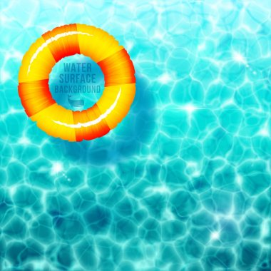 Water ripple background, with rubber ring on water surface eps 10