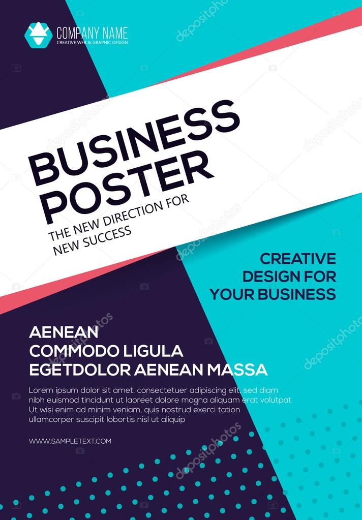 Vector Business Poster Flyer Template Poster For Your Business