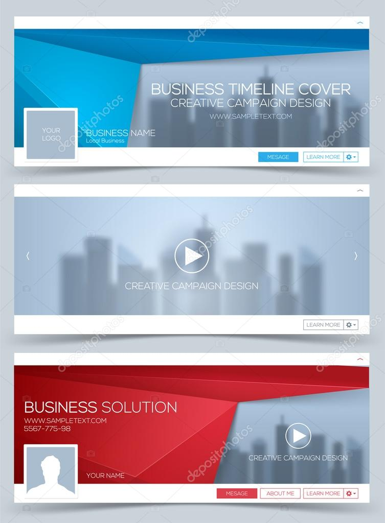 Web Banner Header Layout Template Creative Timeline Cover Web
