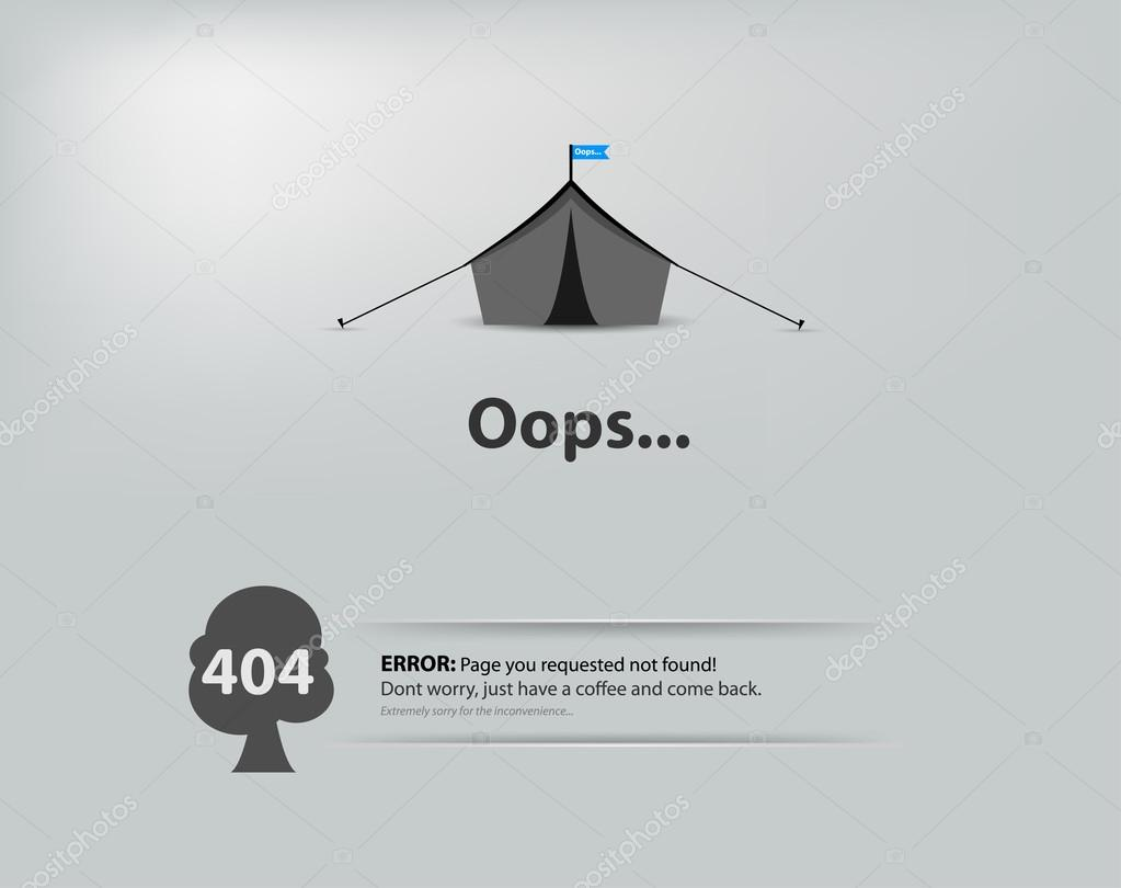 Page not found, 404 error Concept