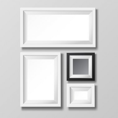 Gray and black blank picture frame.