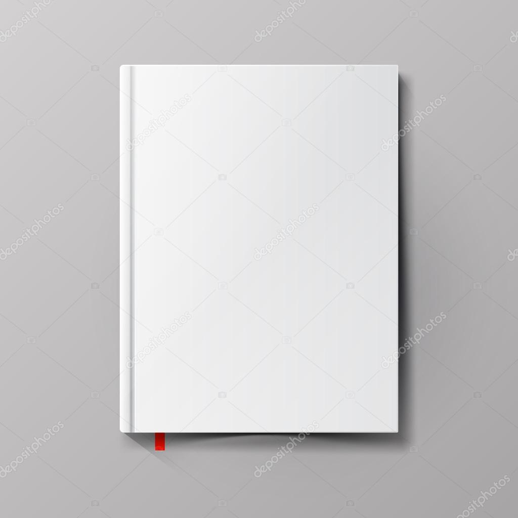 Blank book cover. Vector illustration