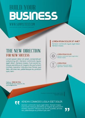Vector Business Flyer. Business background. stock vector