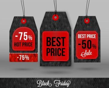 Black friday price tag. Eps 10 vector file. Sale price tag.
