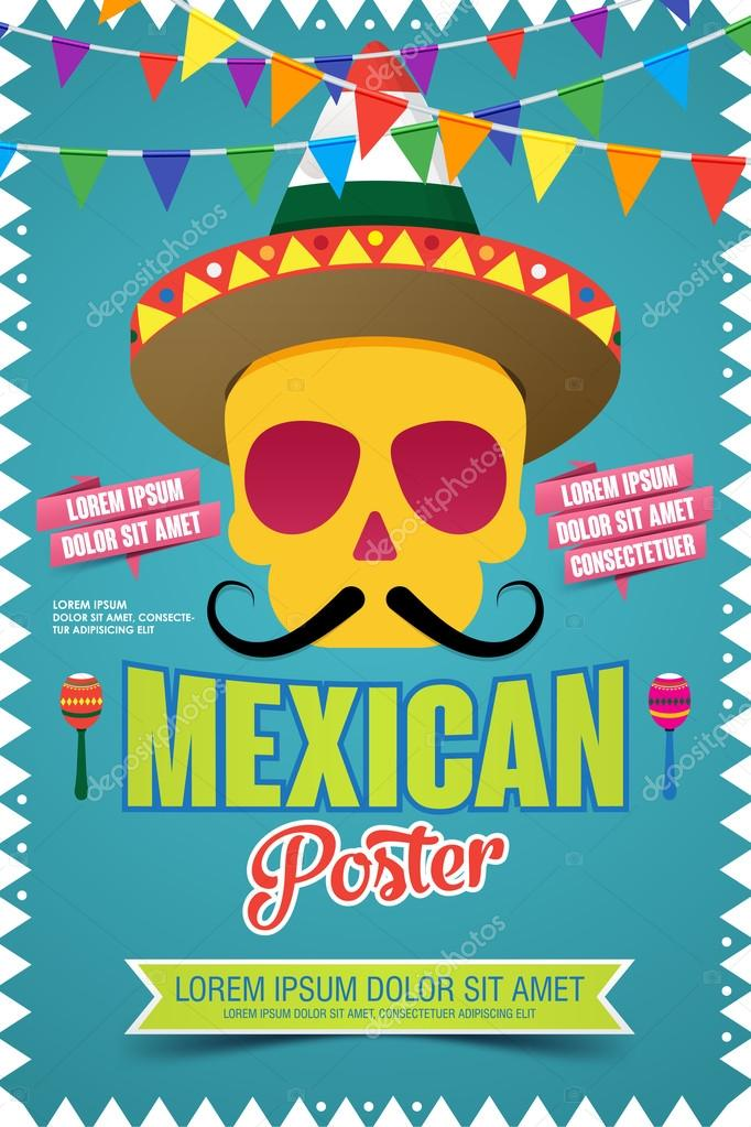 Mexican poster invitation poster to the day of the dead party mexican poster invitation poster to the day of the dead party vector illustration stopboris Image collections