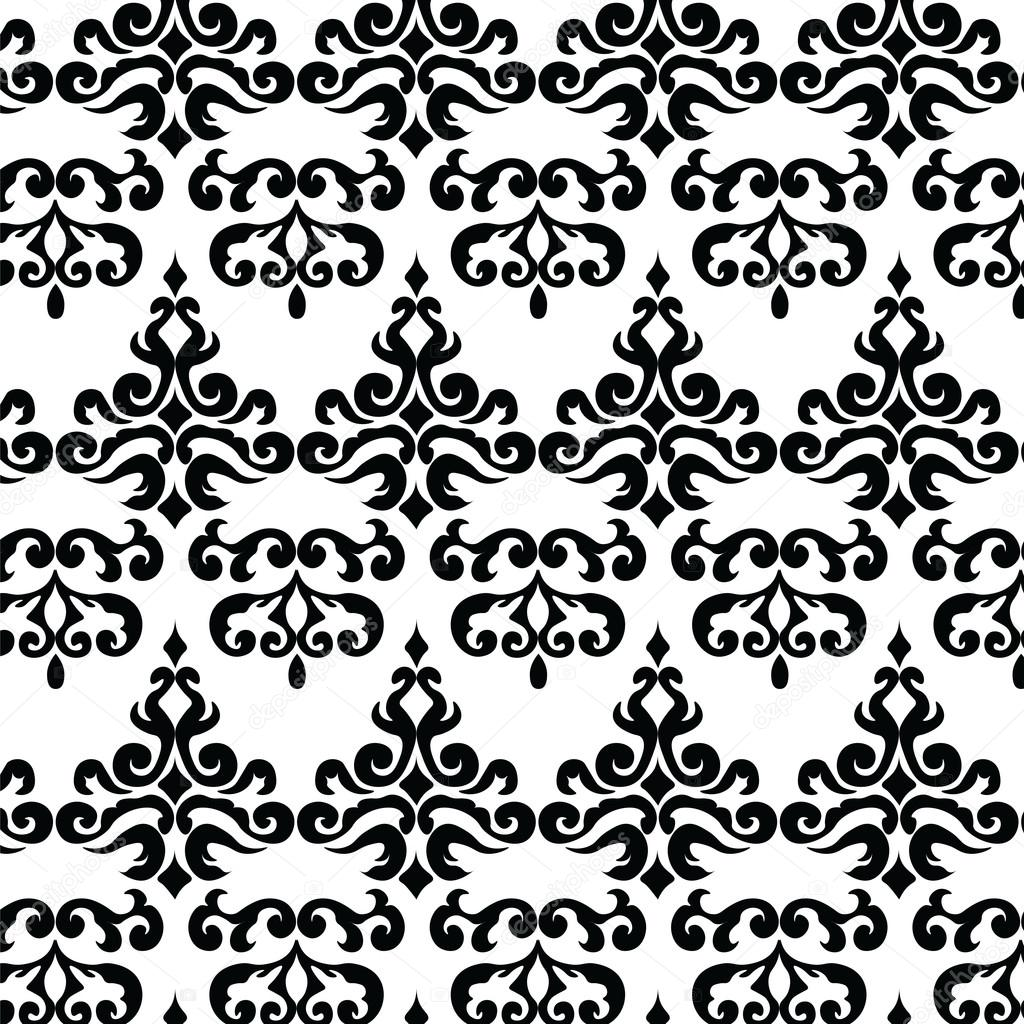 Classic Gothic Style Ornament Pattern In Black And White Vector By Inagraurymail