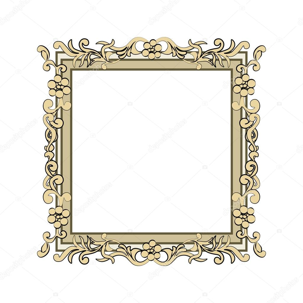 Marco de oro adornado — Vector de stock © inagraur.ymail.com #104763312