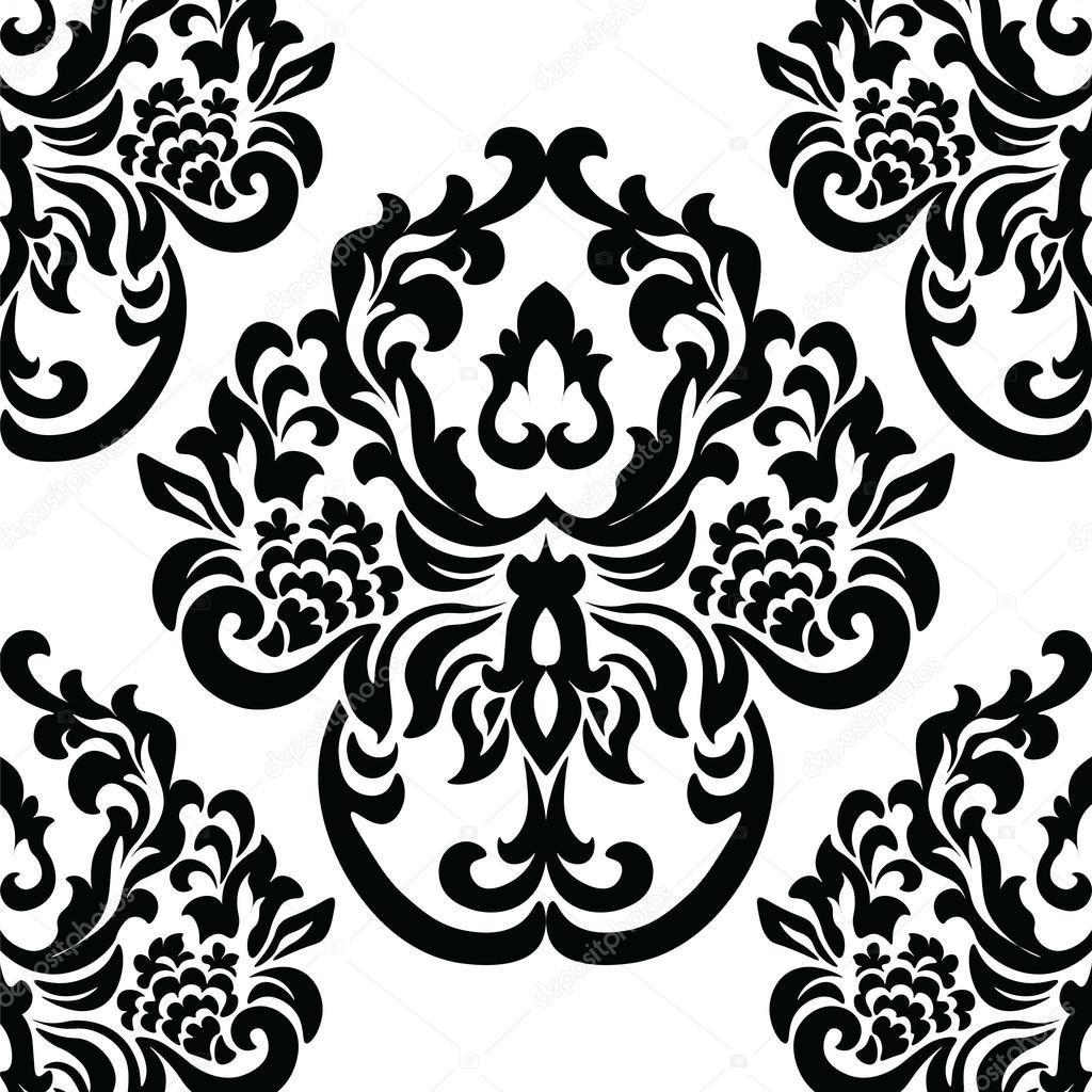 rococo motif vintage floral - photo #19