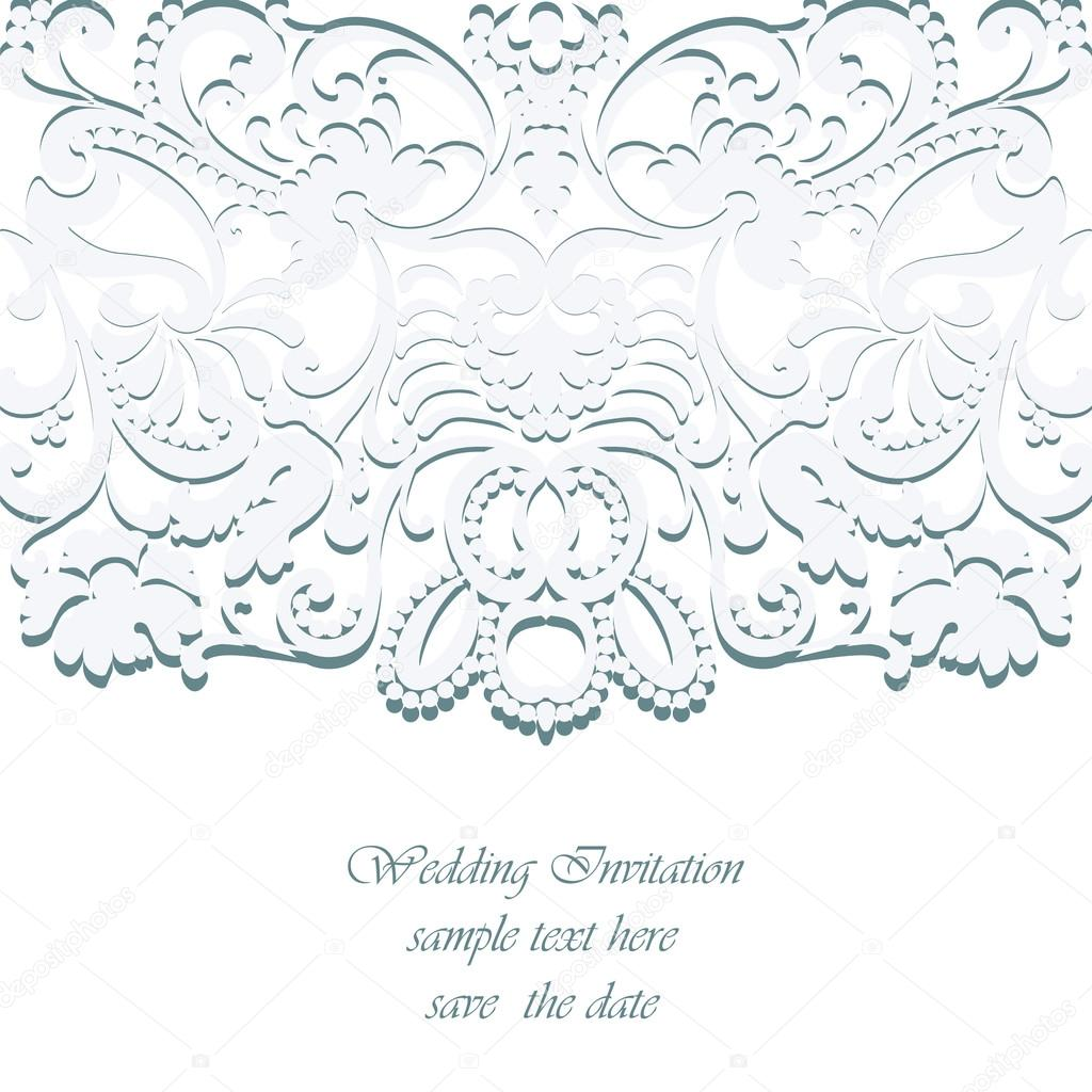 Vector vintage classic wedding invitation card imperial style vector vintage classic wedding invitation card imperial style vetor de stock stopboris Images