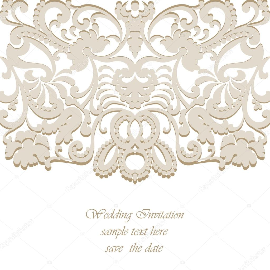 Vector vintage classic wedding invitation card imperial style vector vintage classic wedding invitation card imperial style vetores de stock stopboris Choice Image