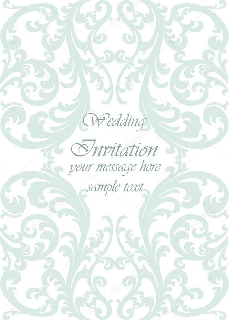 Carto de convite com enfeite de lao de casamento vetor de stock wedding invitation card with lace ornament opal green color vector vetor por inagraurymail stopboris Images