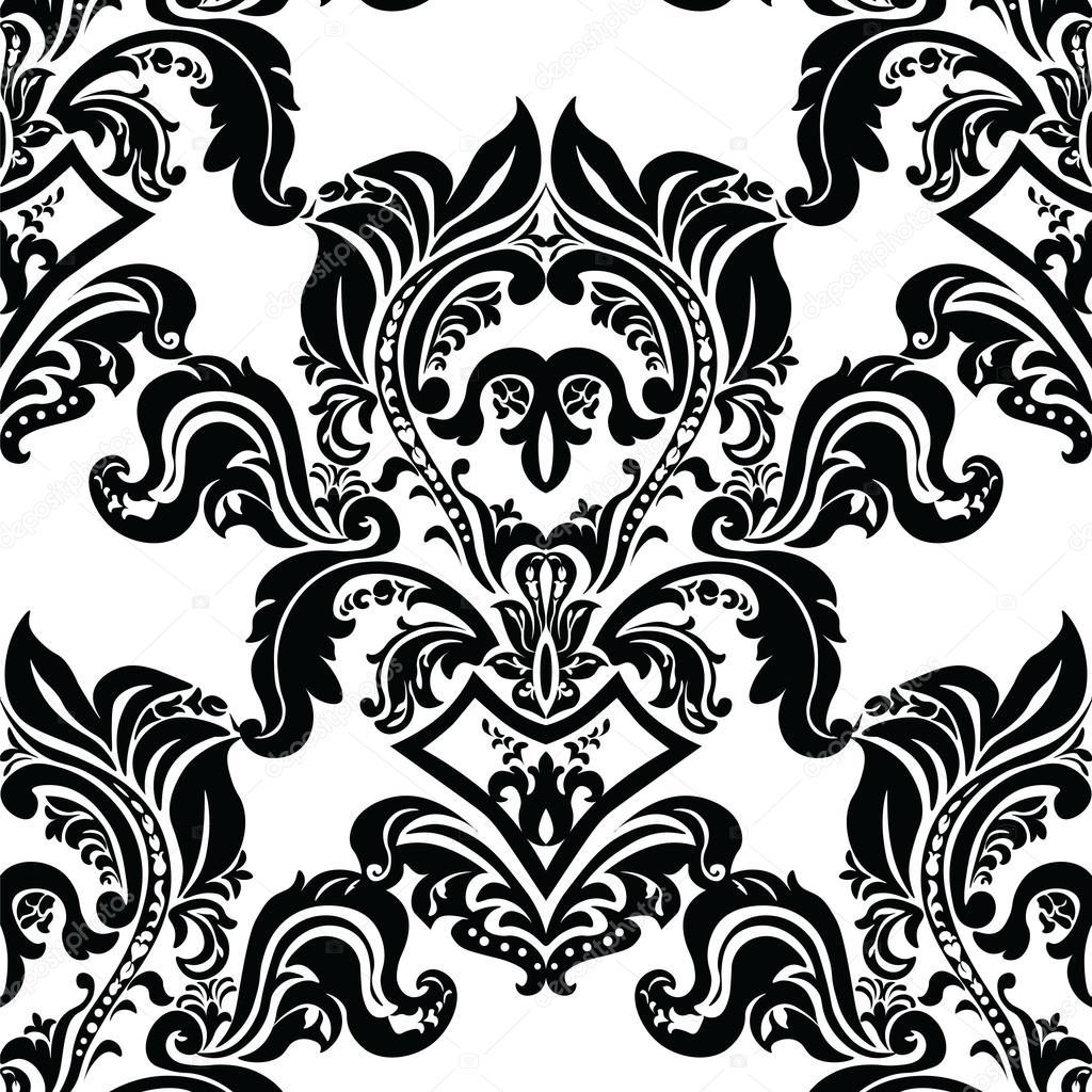 rococo motif vintage floral - photo #9
