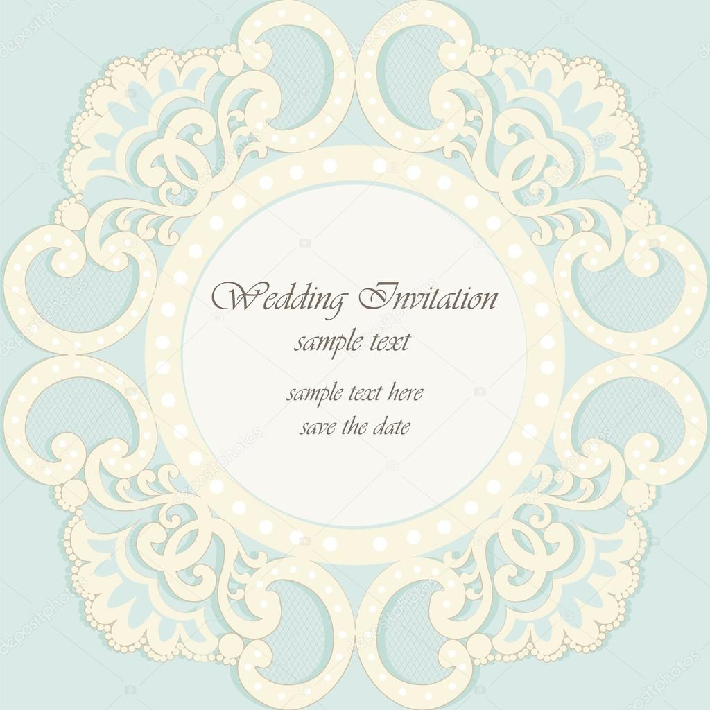 Vector invitation card ornamental lace with damask elements vetor vector invitation card ornamental lace with damask elements vetor de stock stopboris Gallery