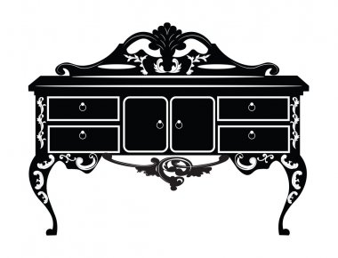 Vintage Baroque Rich Commode Dressing table