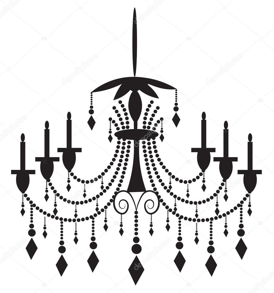 Classic chandelier on white background stock vector inagraur classic chandelier on white background stock vector aloadofball Images