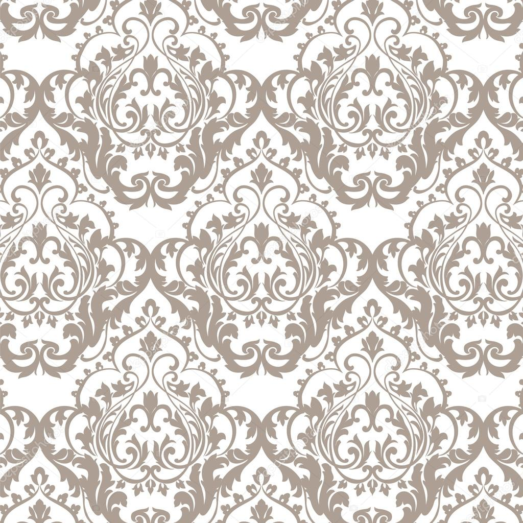 Vintage Classic Rococo Floral Ornament Damask Pattern
