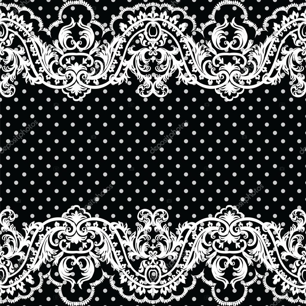 White vintage Lace Crochet pattern — Vector de stock © inagraur ...