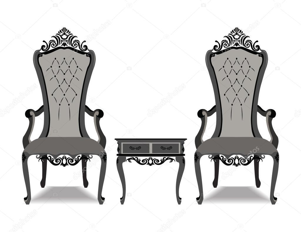 Elegante de lujo barroco ornamentado muebles Archivo Imgenes