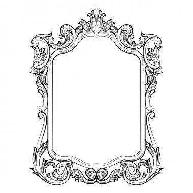 """Картина, постер, плакат, фотообои """"барочный зеркальный декор в стиле рококо зеркало раме настенное круглые прямоугольные настенные"""", артикул 117273140"""