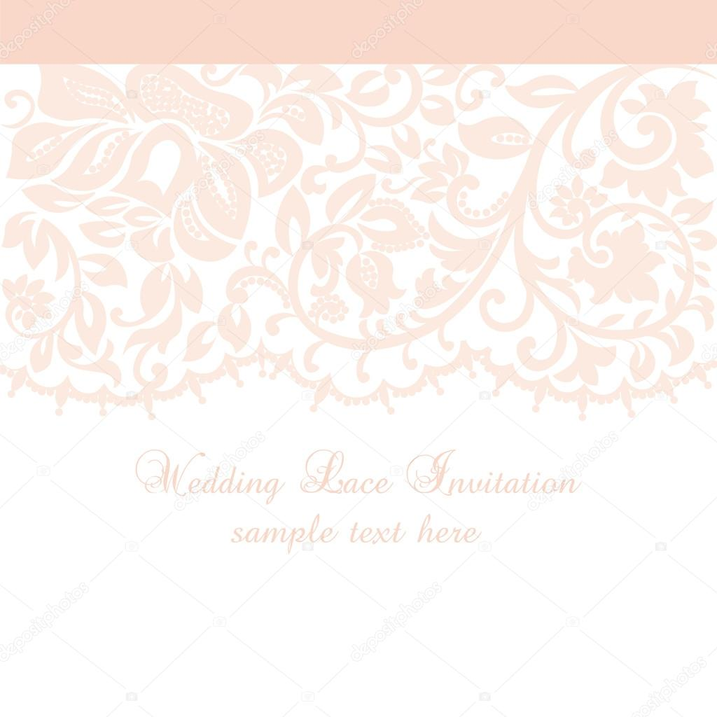 Vector lace invitation card with lace floral ornament vetores de vector lace invitation card with lace floral ornament vetores de stock stopboris Choice Image