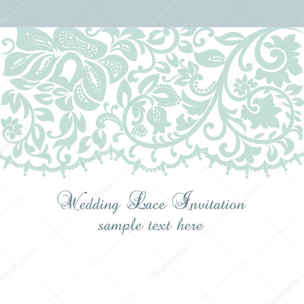 Vector lace invitation card with lace floral ornament vetores de vector lace invitation card with lace floral ornament vetores de stock stopboris Image collections