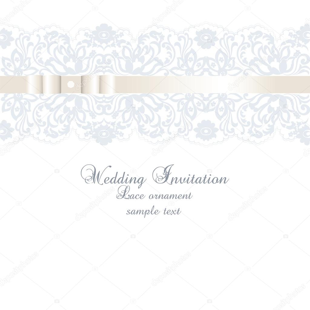 Vector wedding invitation card with lace floral ornament vetores vector wedding invitation card with lace floral ornament vetores de stock stopboris Images