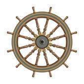 Ship steering wheel isolated