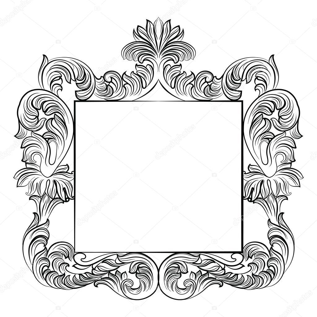 Vintage marco Imperial barroco rococó — Vector de stock © inagraur ...