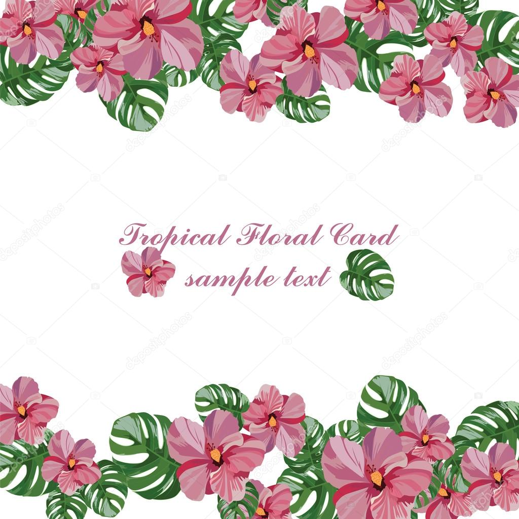 Tropical Pink Flowers Pattern Stock Vector Inagraurymail
