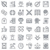 Sada ikon pro návrh hry