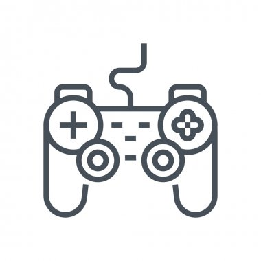 Game controller icon suitable for info graphics, websites and print media and  interfaces. Line vector icon. stock vector