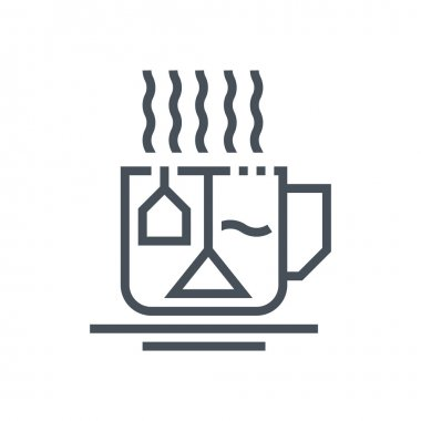 Hot drinks, tea icon