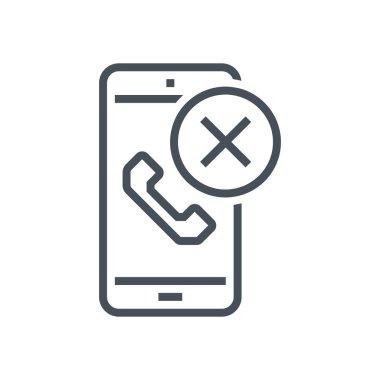 Decline phone call icon